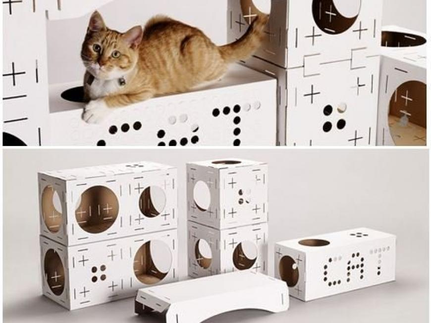 POOPY CAT Blocks Cat Playhouse