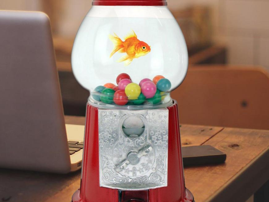 Cute Gumball Machine Fishbowl Tank