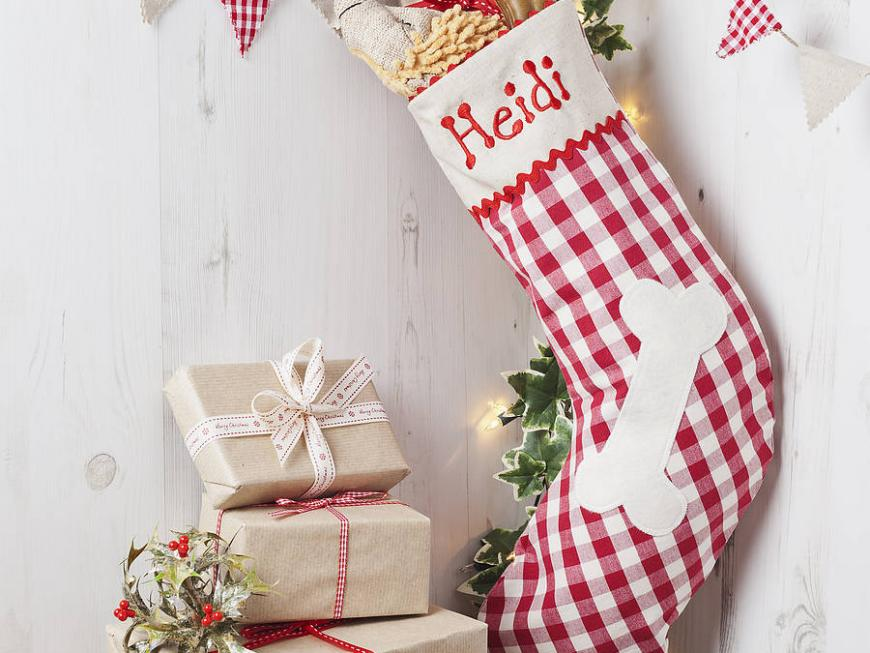 Personalised Christmas Stocking For Your Dog